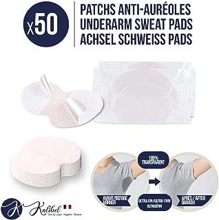 Kalibel - Coussinet anti Auréoles, 50 Patchs Anti Transpiration - Jetable, Invisible et Confortable - Patch Protège Aissel...