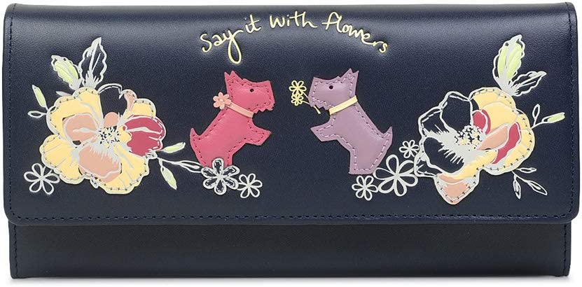Radley London Say It With Large Flowers Year-end annual account Wallet Leather cheap