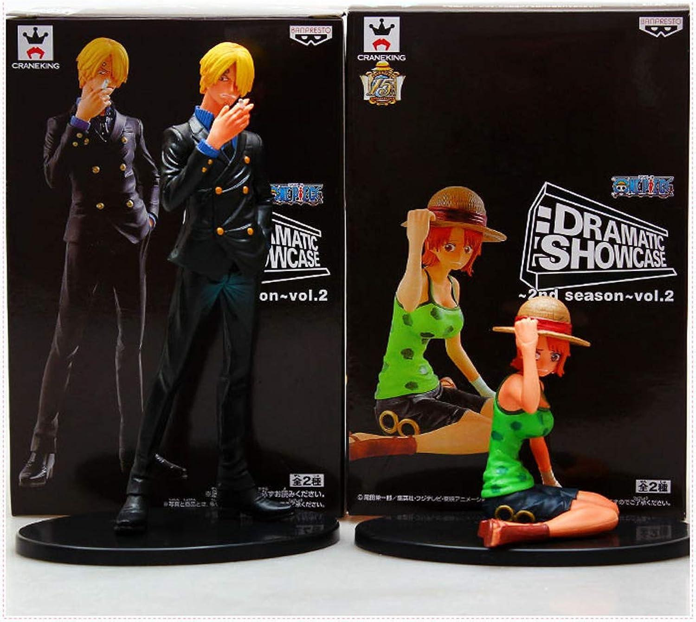 cómodamente LYN Estatua Estatua Estatua de Juguete Modelo de Juguete de una Pieza Exquisito Anime Decoración Decoración Naomi 8CM, Sanji 17CM  precio razonable