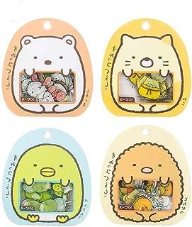 4 Pack Super Cute Cartoon Animals Transparent PVC Stickers for Diary Calendar Albums Decoration Scrapbook Planner Journal Child DIY Toy School Office Supplies (200 Pieces)