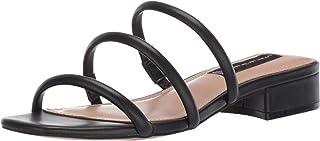 STEVEN by Steve Madden Women's Hades Sandal, Black Leather, 7.5 M US