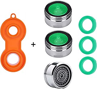 3PCS Faucet Aerators - Sink Faucet Aerator,Male Threads Kitchen Faucet Flow Restrictor Replacement Parts Insert Aerator with 3 Gasket & 1 Faucet AeratorTool for Bathroom