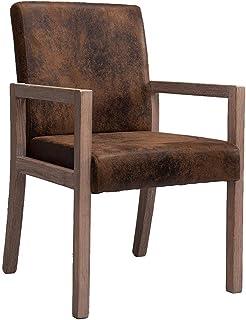 RXBFD chair Silla de Madera Maciza cómoda Silla con Respaldo Acento Cocina Comedor Silla para Escritorio/computadora...