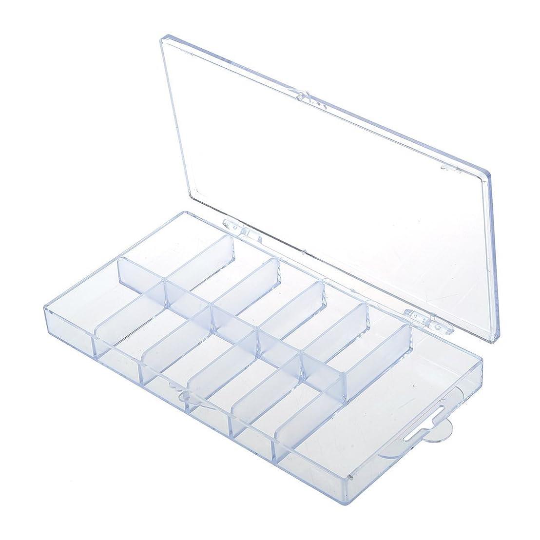 慢贅沢な安全でないSODIAL(R)2pcsネイルアート100枚ヒントコンパートメントのボックス、ケース