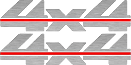 Vinylmark LLC 4x4 Decals (Silver) - 1988 to 1997 Fits Chevy Truck Bed