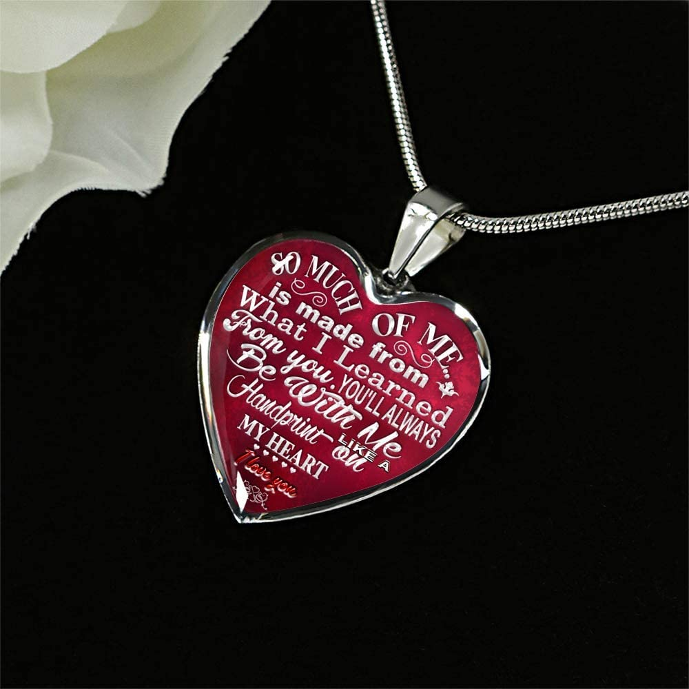 Anniversary Gift for Mom Luxury Necklace Silver On Birthday Includes Gift Box! Mother Daughter Necklace Necklaces for Moms from Daughters