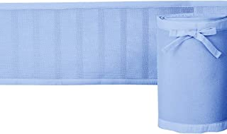 Rajlinen Crib Liner - Light Weight - Honeycomb Technology!! No Chance of Suffocation and it Keeps Your Baby Limbs in The Crib(Standard/Regular Crib Size) (Light Blue and Cotton Trim)