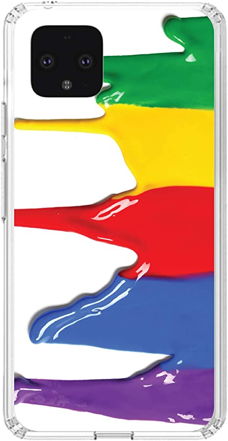 My Cat Wont Dump Me by Text Acrylic Back 6.3 Screen - TPU Bumper DistinctInk Clear Shockproof Hybrid Case for Google Pixel 4 XL Tempered Glass Screen Protector