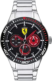 Ferrari Men's RedRev Quartz Stainless Steel Case and Bracelet Casual Watch (Model: 0830589)