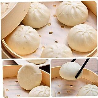 100pcs Vapeur De Papier De Bambou Vapeur Dim Sum Papier Vapeur Antiadhésif Tapis De Cuisine Cuisson De Cuisson