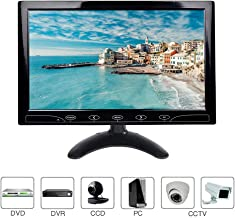 10.1 Pulgadas LCD Monitor, 1024x600 HDMI Pantalla  con Control Remoto & Entrada de HDMI/Audio/VGA/AV/para PC,CCTV,DVR,DVD,Cámara de Seguridad