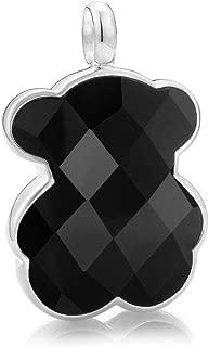 TOUS Black Onyx Bear Pendant