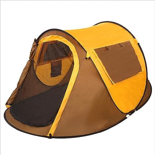TENTLMK Type de Bateau doré en Plein air Local Vitesse de Construction Tentes Ouvertes Tente de Camping pour Chambre individuelle étanche 1 Chambre