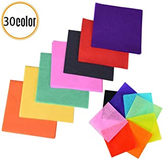 3000 Sheets Tissue Paper Squares, DIY Colorful Gift Tissue Paper for Art Craft Scrunch Art Kids Craft DIY, 1.96 x 1.96 inch, 30 Assorted Colors