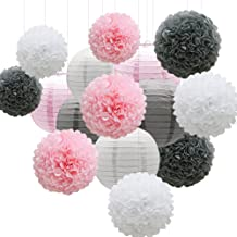 Best pink and gray baby shower decoration ideas Reviews