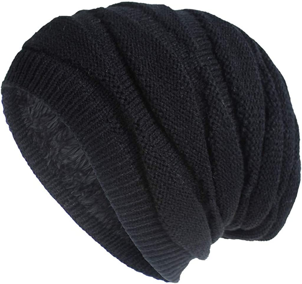 Womens Beanie Winter Hat - Warm Chunky Cable Knit Hats - Soft Stretch Thick Cute Knitted Cap for Cold Weather