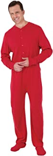 Mens Onesie Pajamas Cotton - Mens Footed Pajamas, Dropseat