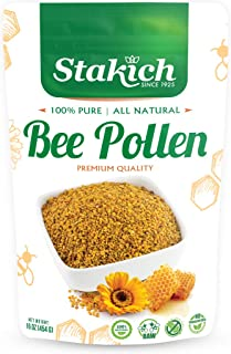 Sponsored Ad - Stakich Bee Pollen Granules - 1 Pound (16 Ounce) - Pure, Natural, Unprocessed