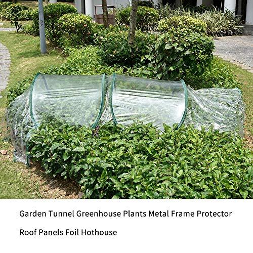 Rubyu Foliengewächshaus Gewächshaus Gemüsebeet Mini PVC Faltbar Pflanztunnel Netz Garten Warme Raumdecke