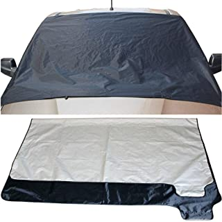CYCTECH Suger Car Windshield Snow Cover, Shade Waterproof & Sun Protection Winter Cover with Double Side Design, Snow, Ice, Frost, UV Full Protection Fit for Most Vehicles - 67.7''x 48.03''