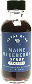 Royal Rose, Wild Maine Blueberry Organic Simple Syrup (2oz)