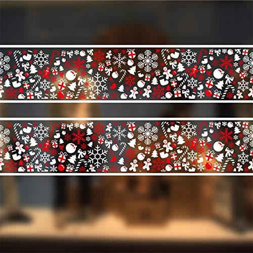 Pegatinas de pared navideñas, utilizadas para la pared de la ventana de vidrio, decoraciones navideñas de color puerta de vidrio electrostática sin pegamento 72 * 54 CM