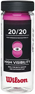 Wilson 20/20 Racquetball (3 Ball Can), Pink