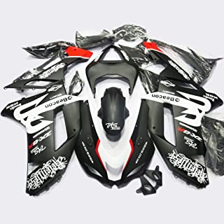 New White Red Fairing Fit for Kawasaki Ninja 2007 2008 ZX6R 636 ZX-6R Injection Mold ABS Plastics Aftermarket Bodywork Bodyframe 07 08