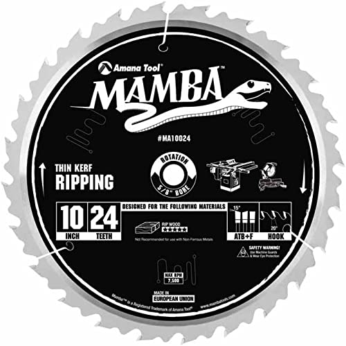 """lowest MAMBA discount - by Amana popular Tool, Ripping 10"""" x 24T Atbft 5/8"""" Bore (MA10024) outlet online sale"""