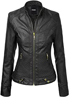 Hashoob Ladies Polyurethan Leather Jacket Women Jacket LL-01