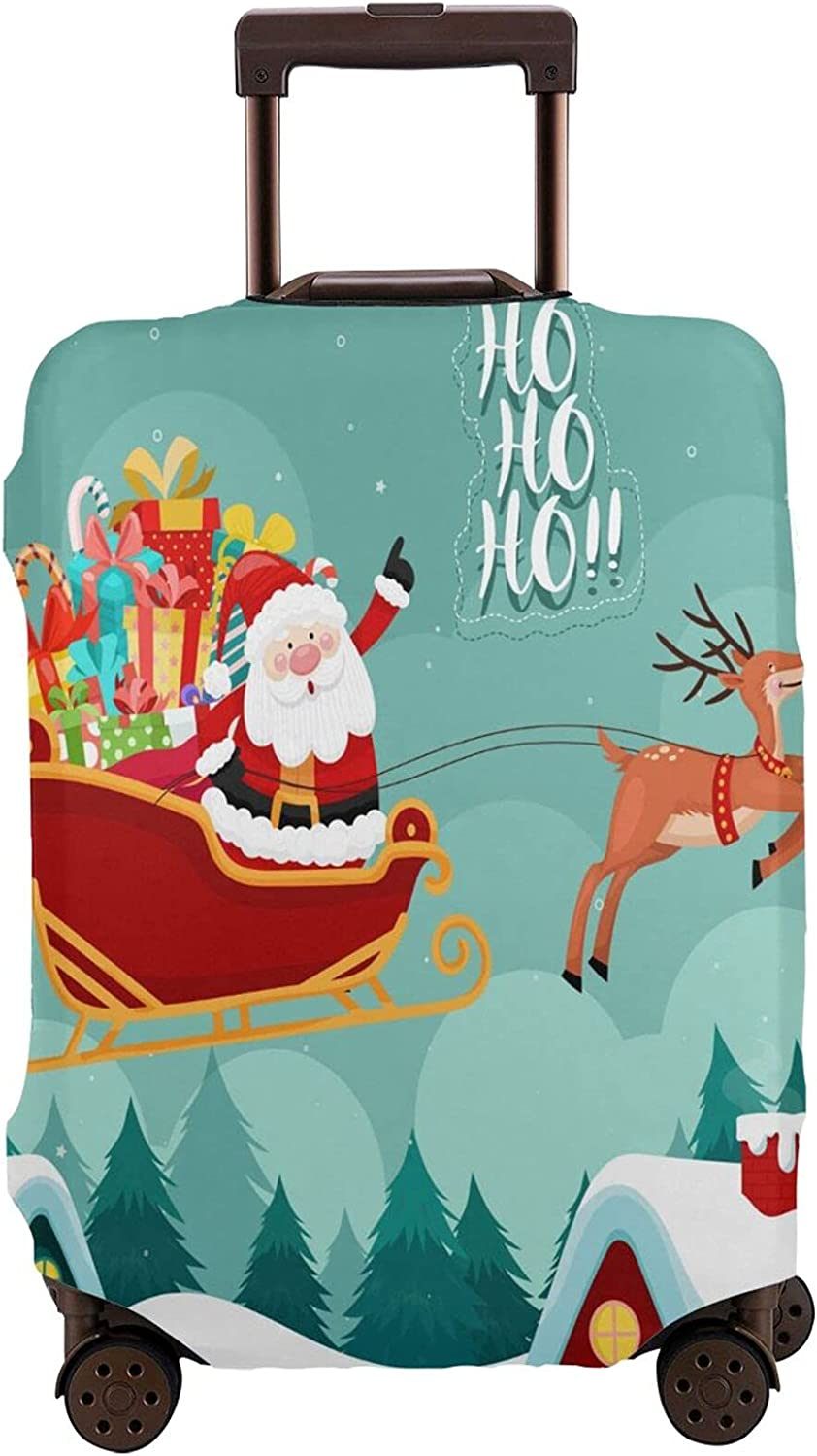 Austin Mall Santa Ride Sleigh Travel Department store Luggage Suitcase Protector 18 Fit Cover