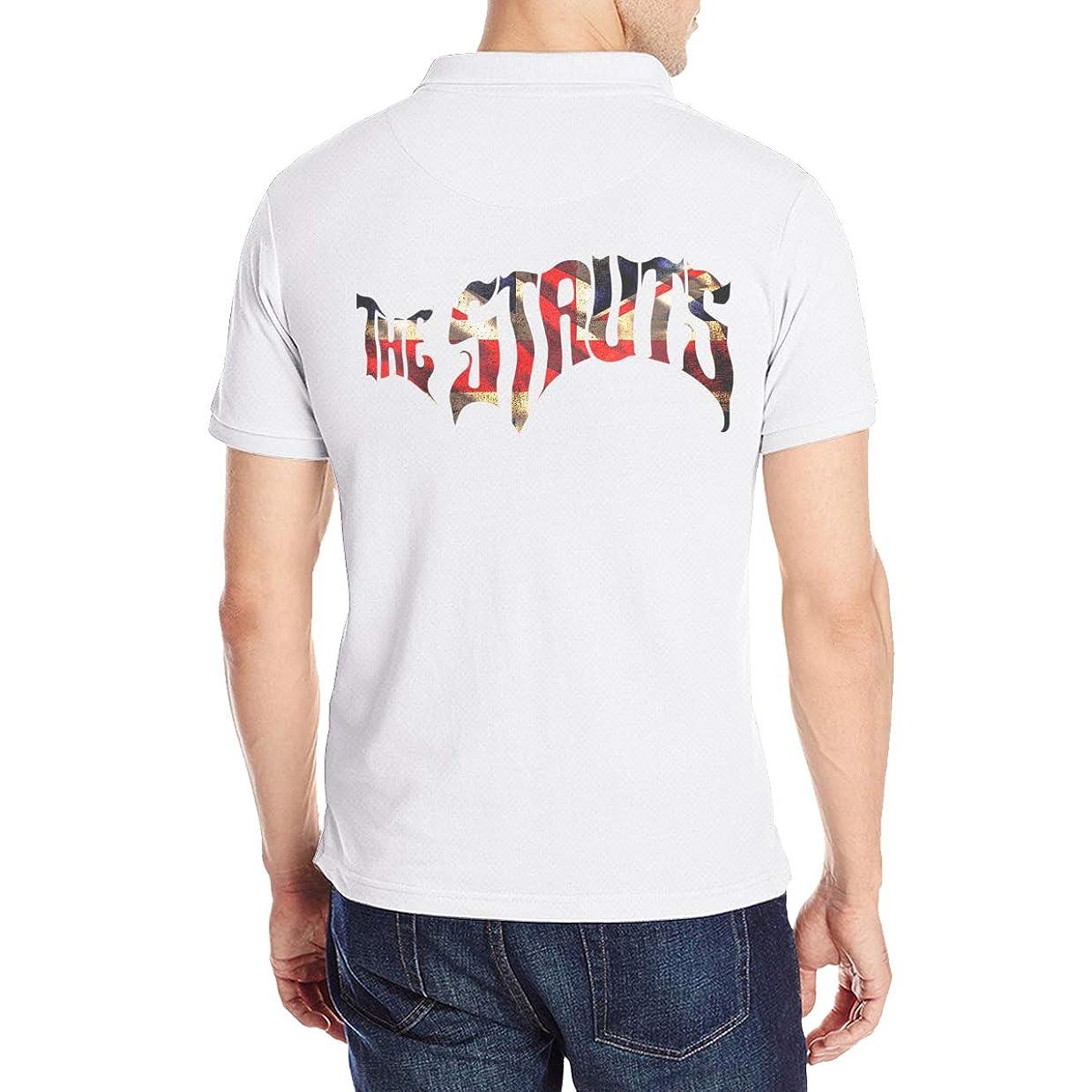 不純トースト密ザ?ストラッツ The Struts 2018 Tour Tシャツ Polo シャツ ポロ メンズ ユニーク コットン 後ろプリントtシャツ V首 ショートスリーブ 夏トップス ビジネス 人気 シンプル吸汗速乾 通学 通勤 着痩せ