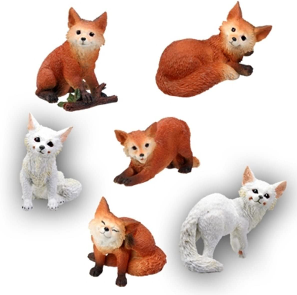 Foxes Collectible Figurine of 6 Max 65% OFF Set Dedication
