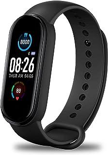 Pulsera de Actividad Inteligente Reloj Deportivo IP67 para Hombre Mujer con GPS Monitor de Sueño Podómetro Contador Notifi...