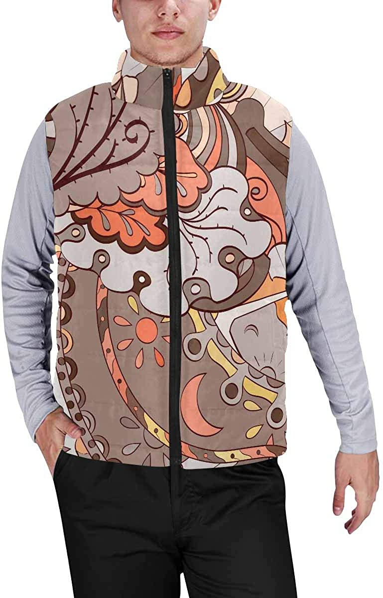InterestPrint Men's Casual Sleeveless Coats with Personality Design Enjoy Summer Holiday