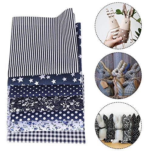 AnMeelin Patchwork Stoffe Paket, 7 Stück 49x49 cm Stoffreste Baumwolle Meterware Baumwollstoff Paket für Wickeltaschen, Schutzhüllen, Tischdecken und Dekorationen