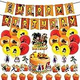 Dragon Ball Theme Party Supplies, Decoraciones de Cumpleaños de Dragon Ball Globos de Látex Decoraci...