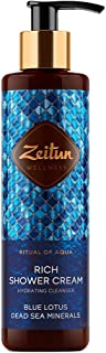 Zeitun Wellness Hydrating Creamy Natural Body Wash For Women | Ritual Of Aqua | With Dead Sea Minerals And Blue Lotus Extr...