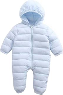 EGELEXY Baby Winter Snowsuit Fleece Hoodie Jumpsuit Outwear Bear One-Piece