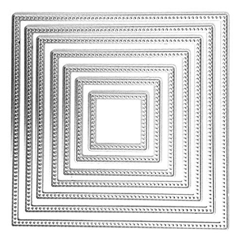Fustelle per Scrapbooking, FNKDOR Fustella Stencil DIY Album Stampo Metallo Segnalibro Taglio del Mestiere Goffratura Stampi, Accessori per Big Shot e altre Fustellatrice macchina (G)