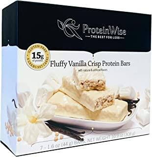 ProteinWise Healthy Diet Very Low Carb Low Calorie High Protein Bar (Fluffy Vanilla Crisp)