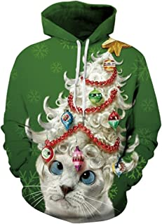 Your Love Funny Cat Christmas 3D Print Hoodie Pullover Sweatshirt Outerwear