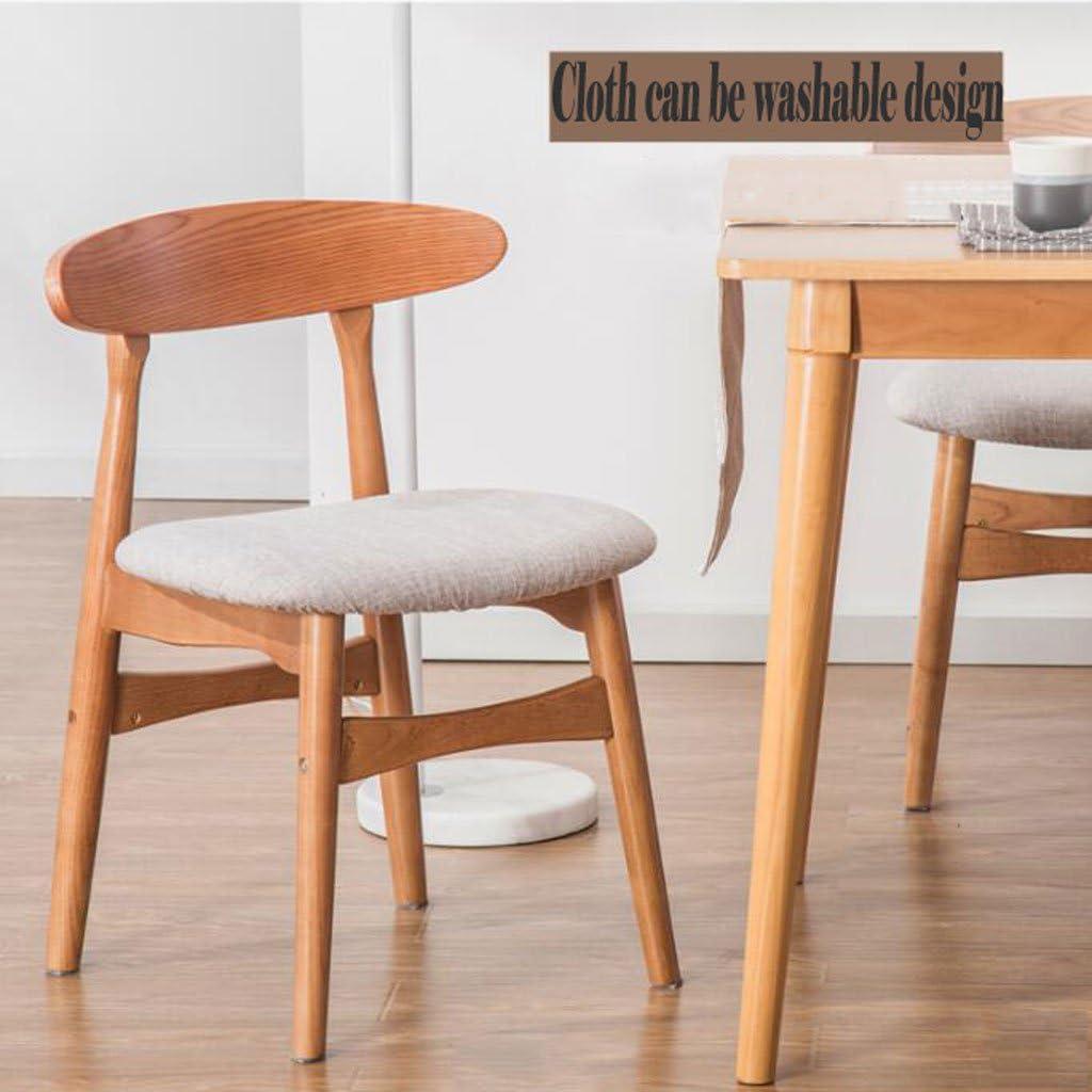 AJZGFChaise de salle à manger, chaise de cuisine Chaise de dossier en bois simple, nordique dinant la chaise de bureau chaise décontractée thé café tables et chaises (Color : A) C