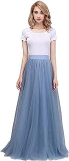 Women's Maxi High Waist Skirts Blush Tulle Holiday Formal Skirt