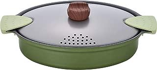 和平フレイズ 丸ごとパスタポット グリーン 20×27cm IH対応 湯切り穴付 じたぱん RB-1285