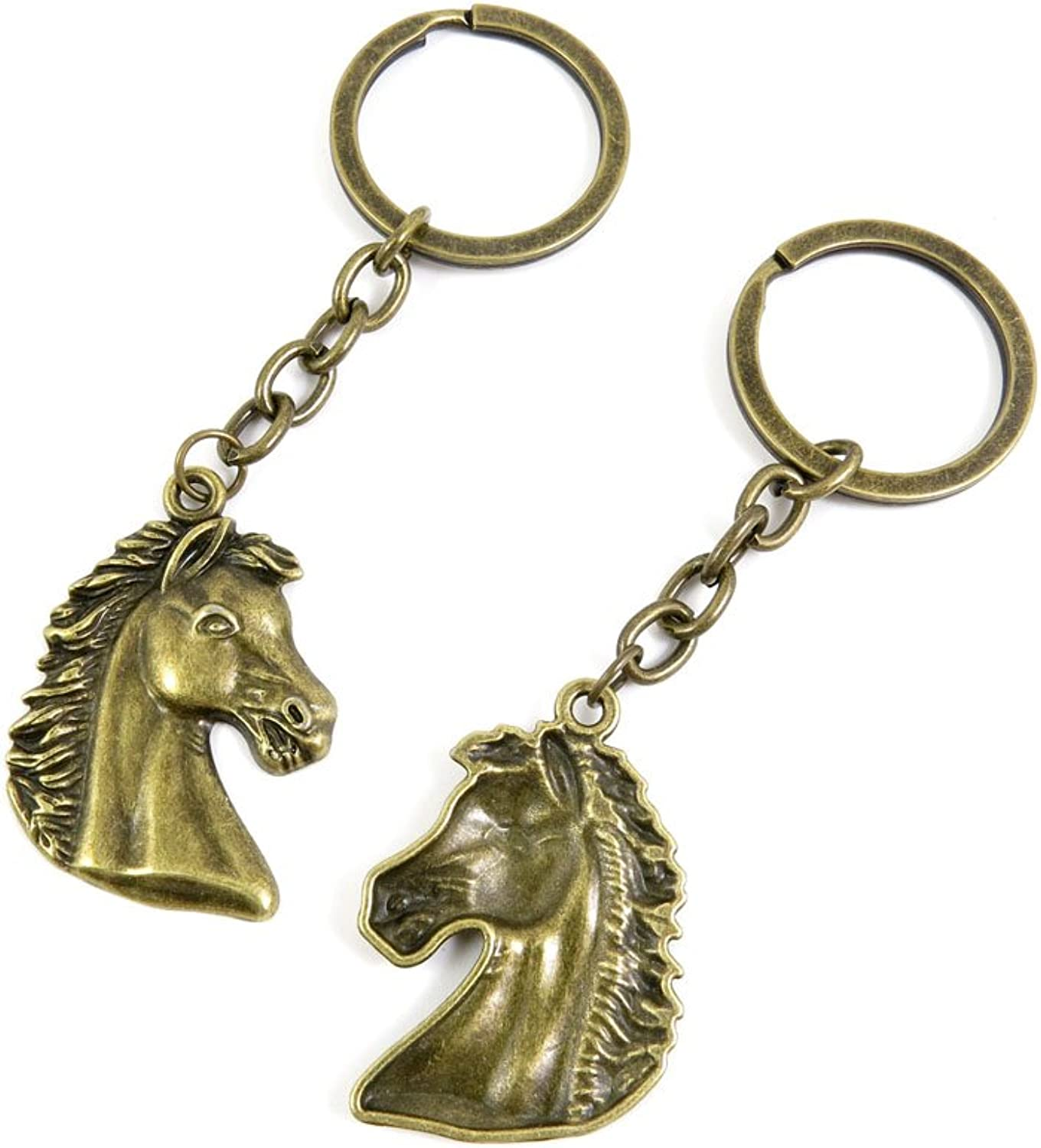 150 Pieces Fashion Jewelry Keyring Keychain Door Car Key Tag Ring Chain Supplier Supply Wholesale Bulk Lots F8TP7 Horse Head