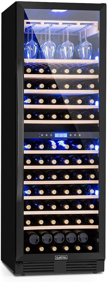 Frigo vino, cantinetta vino, 425 l, 165 bottiglie, anta in vetro, illuminazione interna in 3 colori klarstein HEA8-90300-mqrf