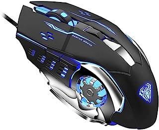 ماوس العاب S20 سلكي بمنفذ USB   قابل للبرمجة   ماوس ضوئي مريح   مع مصابيح LED وامضة  لاجهزة الكمبيوتر واللاب توب من اولا