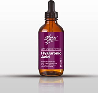 Hyaluronic Acid Serum - Antioxidant Anti Aging, High potency hydrating facial exfoliant serum – that reduces wrinkles for radiant skin (ONE 2 OZ bottle)
