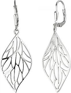 Damen Ohrhänger Ohrringe Silberohrringe Boutons 925 Sterling Silber teil matt